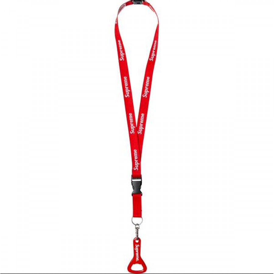 Supreme 14ss Bottle Opener Lanyard (Red)