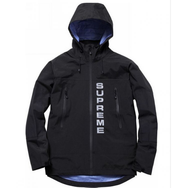 Supreme 3M Parka Reflective Wind Jacket (Black)