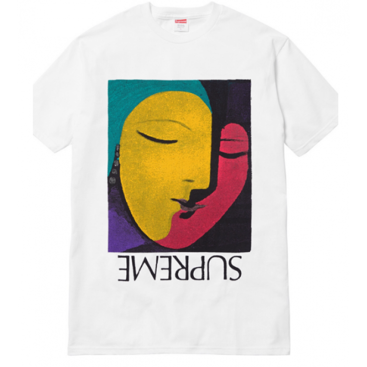 Supreme Abstract Art T-Shirt (White)