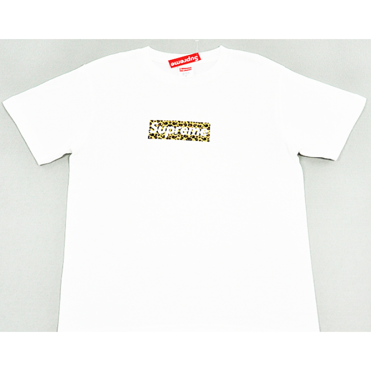 Supreme Box Logo Leopard T-shirt (White)