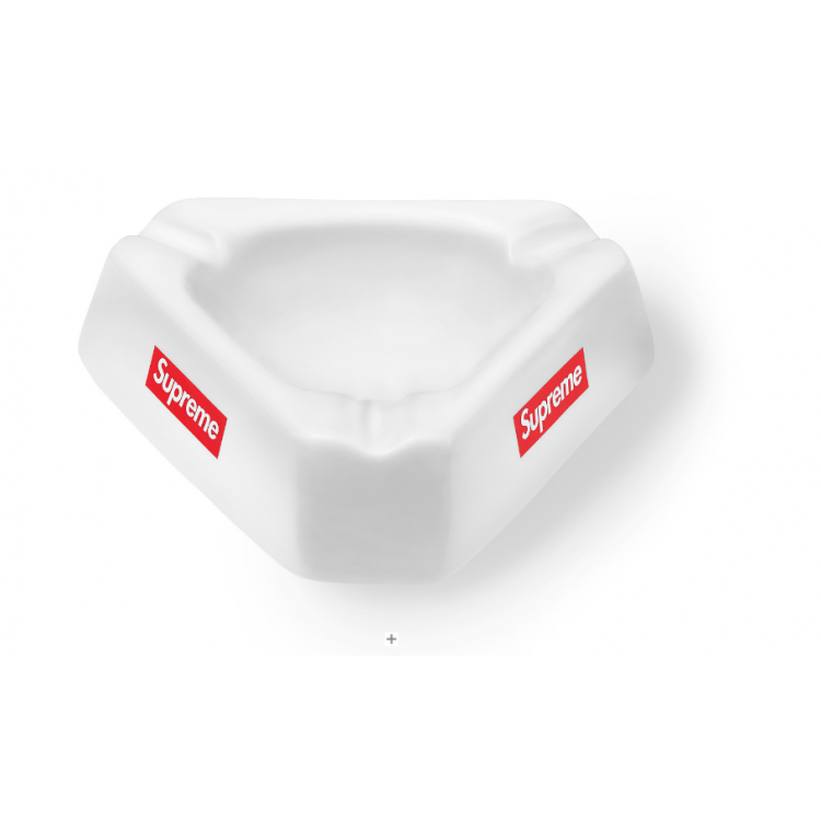 Supreme Ceramic Logo Ashtray (White)