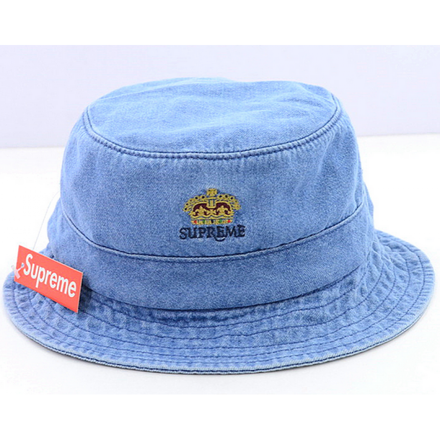 Supreme Denim Crusher Trooper Bucket Hat (Light/Blue)