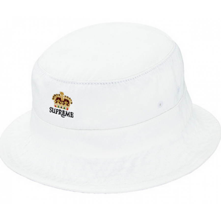Supreme Denim Crusher Trooper Bucket Hat (White)