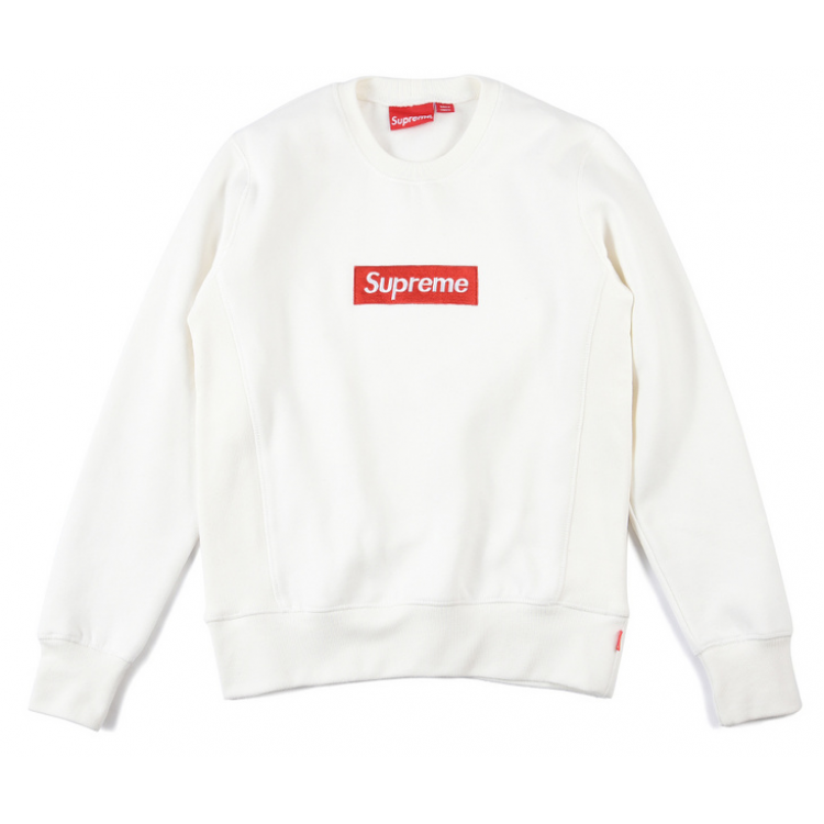 Supreme Embroided Logo Sweater (White)
