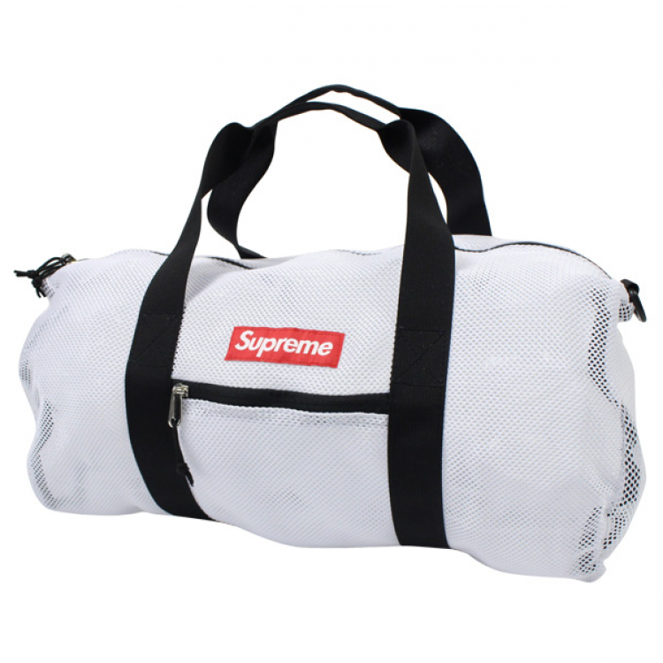 Supreme Mesh Duffle Bag (White)