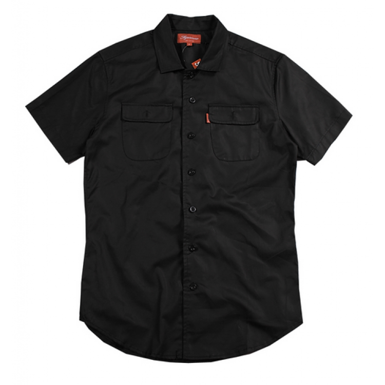 Supreme Misfits Button Up Two Pocket Short Sleeve Shirt (Black)