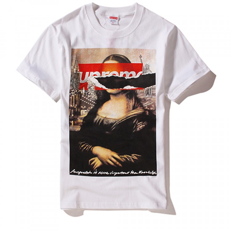 Supreme Monaliza Streets of New York T-Shirt (White)