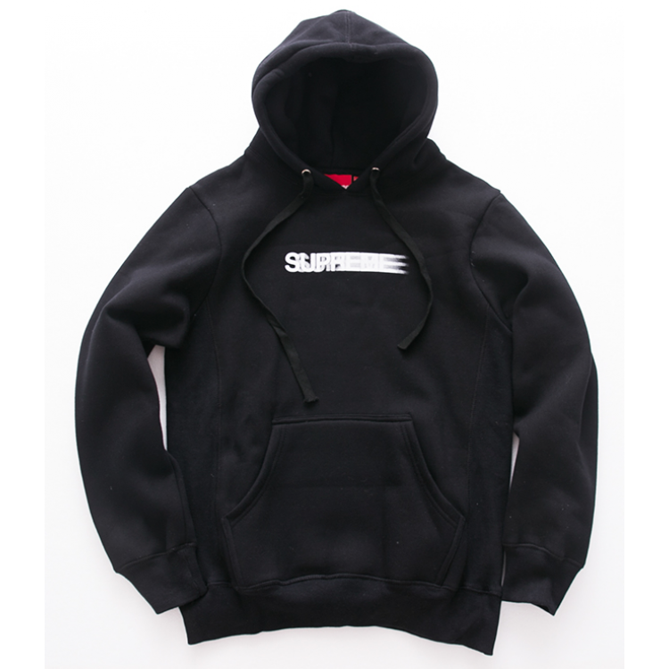 Supreme Motion Logo Hooded Sweater (Black)