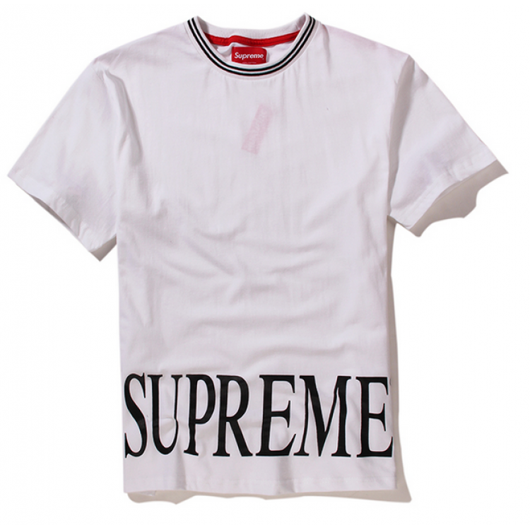 Supreme NYC Roman Logo T-Shirt (White)