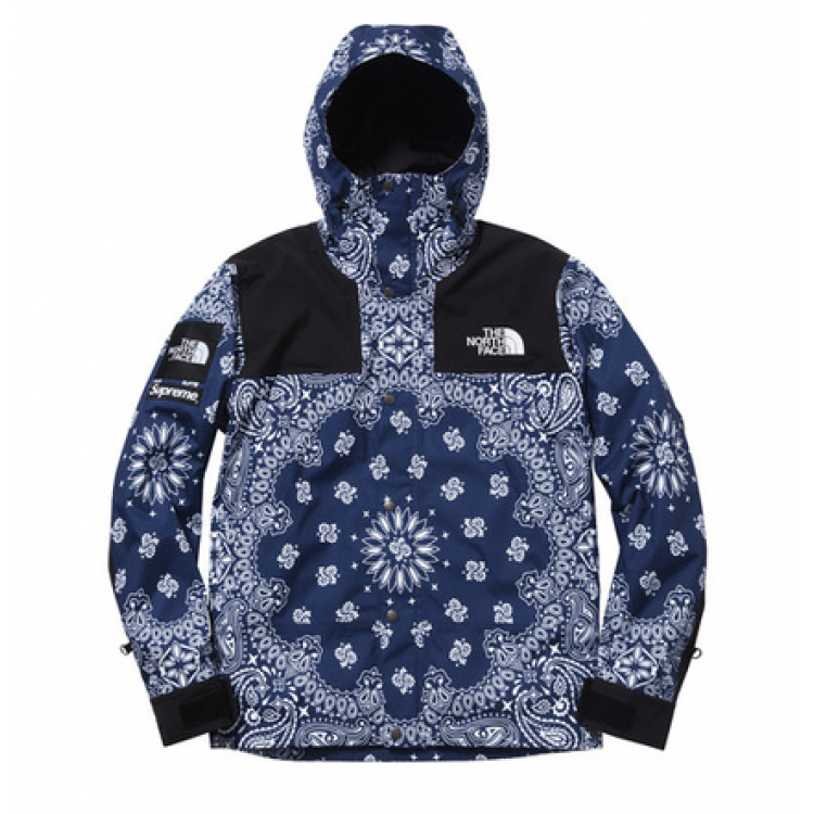 Supreme North Face NF Paisley Wind Jacket (Blue)