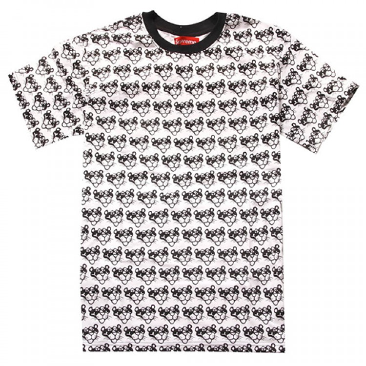 Supreme Pink Panther Pattern T-Shirt (White/Black)