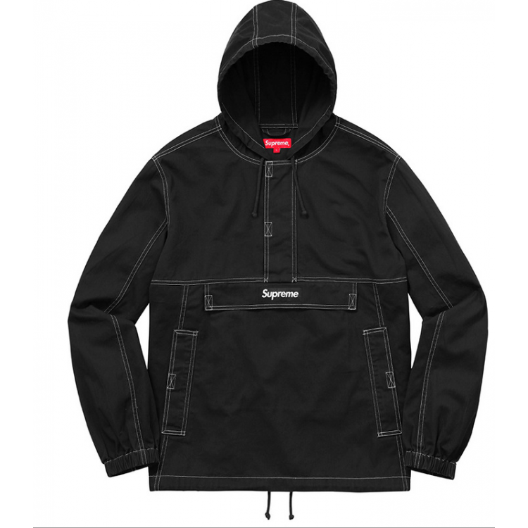 Supreme Plain Hooded Jacket (Black)