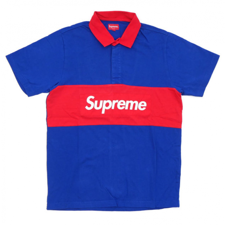 Supreme Rugby Box Logo Shirt (Blue)
