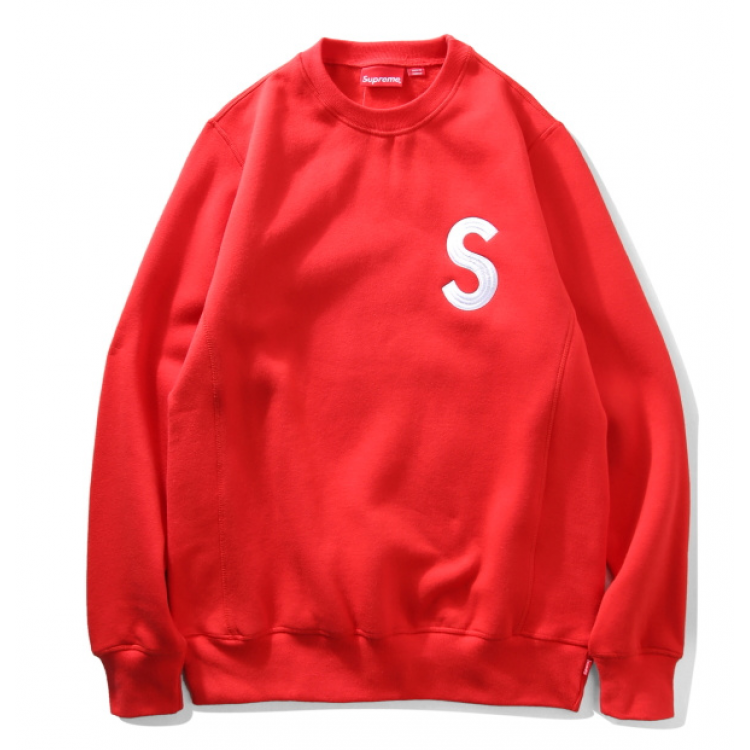 Supreme S Crewneck Sweater (Red)