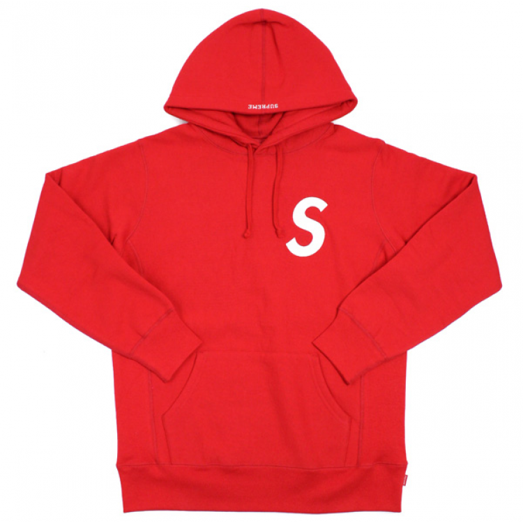 Supreme S Logo Hoodie (Red)