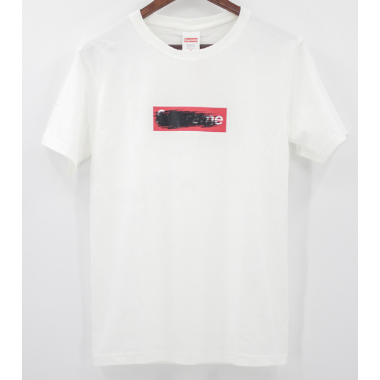 Supreme Smudged Logo T-shirt (White)
