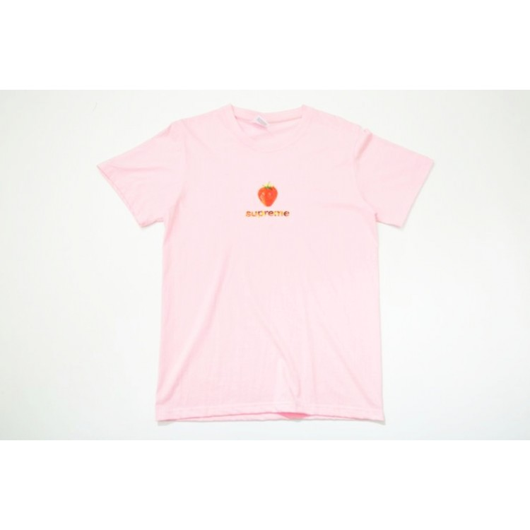 Supreme Strawberry Flame T-Shirt (Pink)