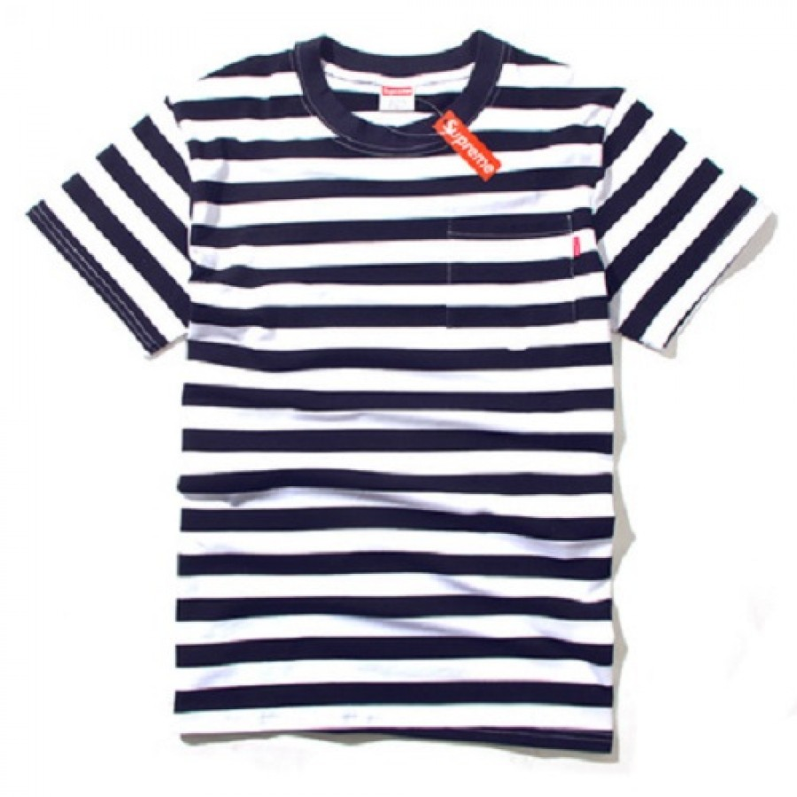 Supreme Stripe T-Shirt (Blue/White)