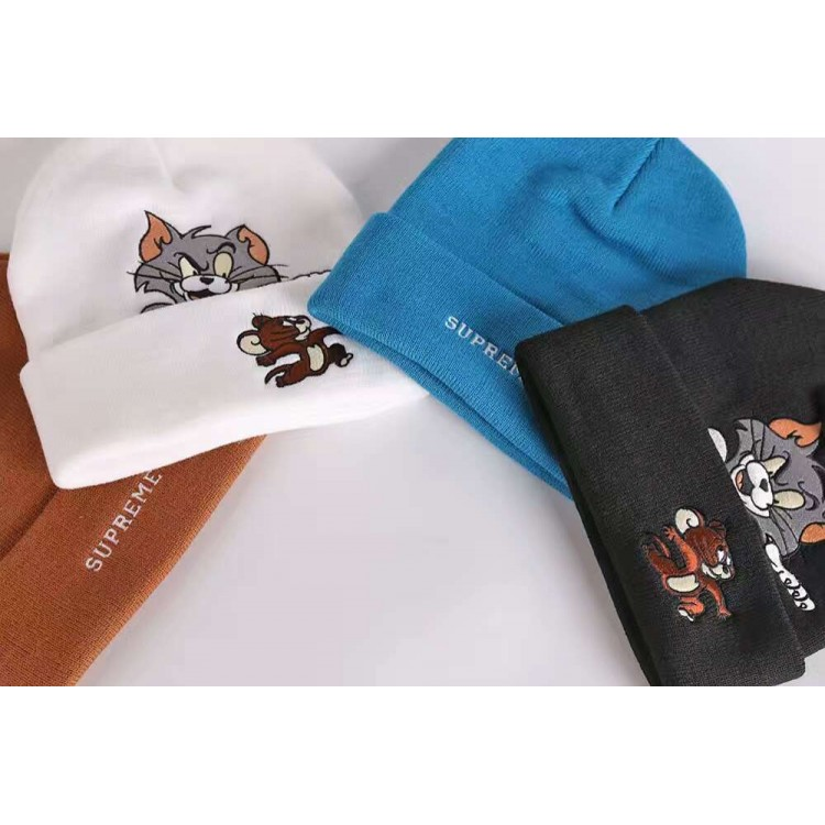 Supreme Tom Jerry Ribbed Beanie Collection