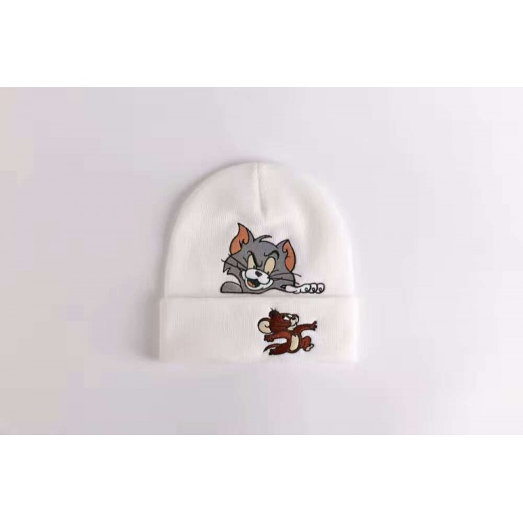 Supreme Tom Jerry Ribbed Beanie (White)