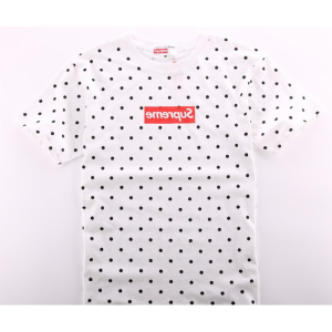 Supreme Box Logo CDG Polka Dot T-Shirt (White)