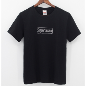 Supreme KAWS Box Logo T-Shirt (Black)