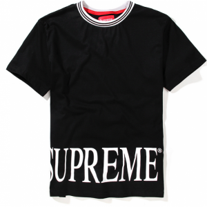 Supreme NYC Roman Logo T-Shirt (Black)