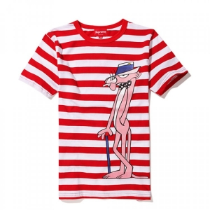 Supreme Pink Panther Stripes T-Shirt (Red/White)