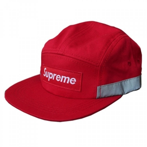 Supreme Plain Stripe Hat (Red/Gray)