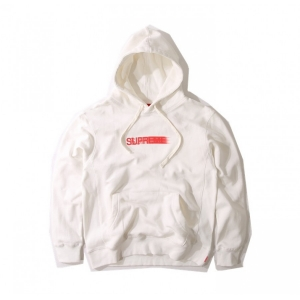 Supreme 16SS Motion Logo Pouch Hoodie (White)