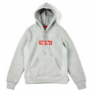 Supreme Font Label Hoodie (Gray)