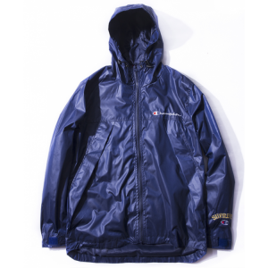 Supreme Champion Plain Windbreaker Jacket (Navy)