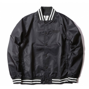 Supreme Label Baseball Jacket (Black)