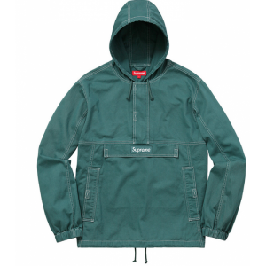 Supreme Plain Hooded Jacket (Green)