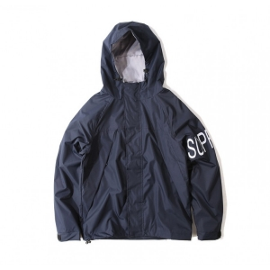Supreme Print Sleeve Wind Jacket (Navy)