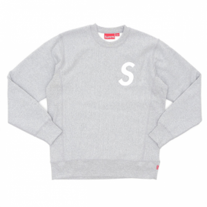 Supreme S Logo Crewneck Sweater (Gray)